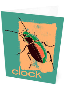 Clock – card – Indy Prints by Stewart Bremner
