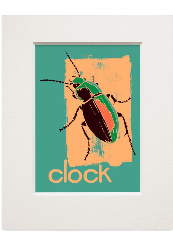 Clock – small mounted print - Indy Prints by Stewart Bremner