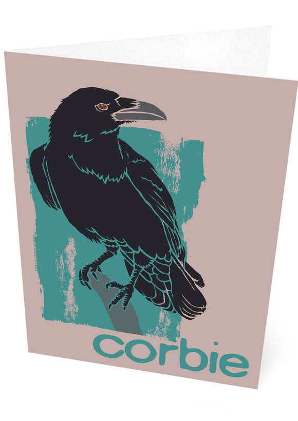 Corbie – card – Indy Prints by Stewart Bremner