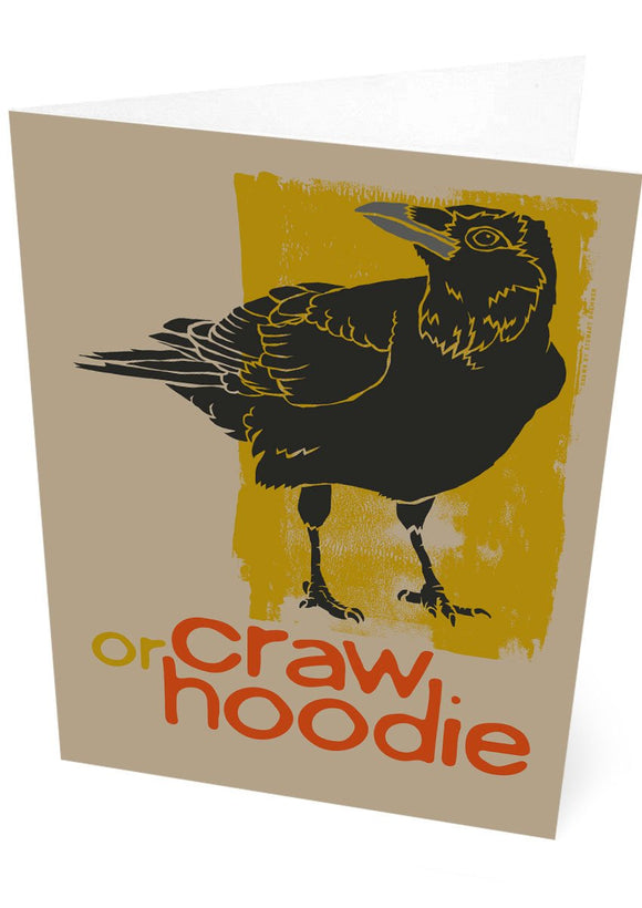 Craw – card – Indy Prints by Stewart Bremner
