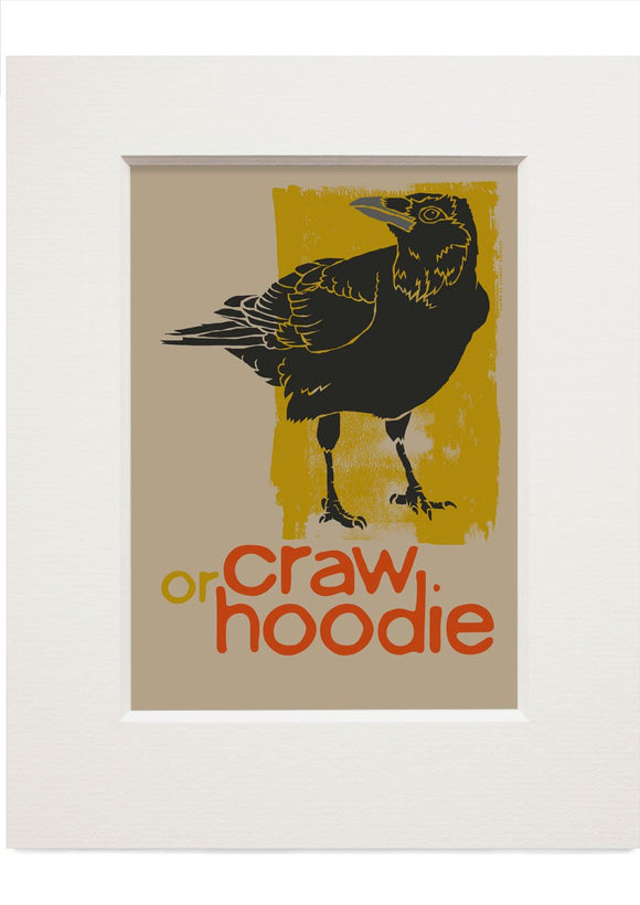 Craw – small mounted print - Indy Prints by Stewart Bremner