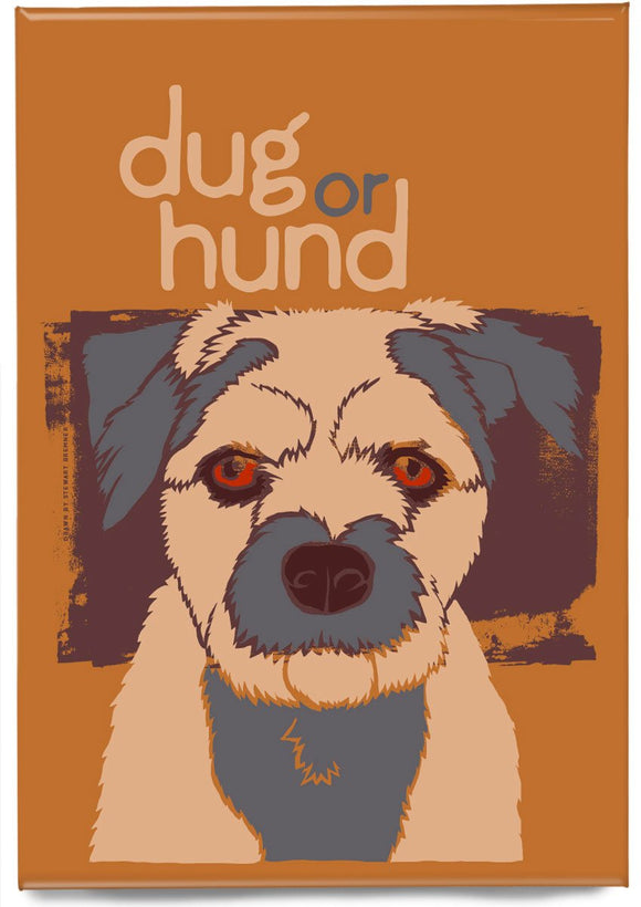 Dug or hund – magnet – Indy Prints by Stewart Bremner
