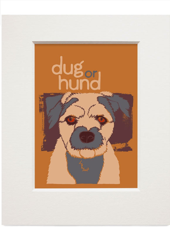 Dug or hund – small mounted print - Indy Prints by Stewart Bremner