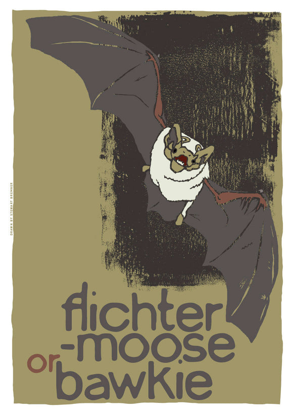 Flichtermoose or bawkie – giclée print