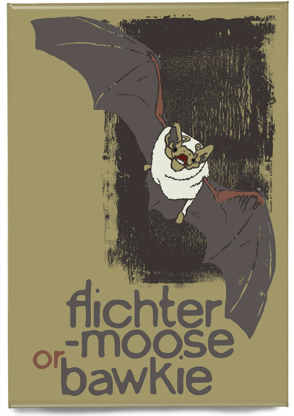 Flichtermoose or bawkie – magnet – Indy Prints by Stewart Bremner