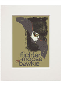 Flichtermoose or bawkie – small mounted print - Indy Prints by Stewart Bremner
