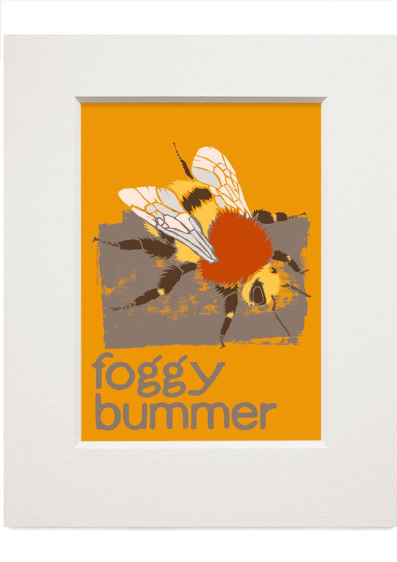 Foggy bummer – small mounted print - Indy Prints by Stewart Bremner