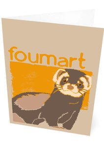 Foumart – card – Indy Prints by Stewart Bremner