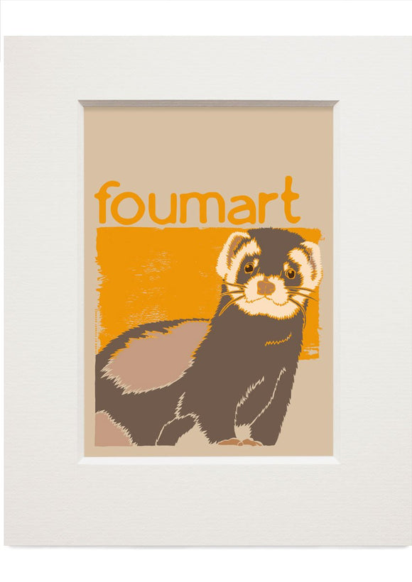 Foumart – small mounted print - Indy Prints by Stewart Bremner