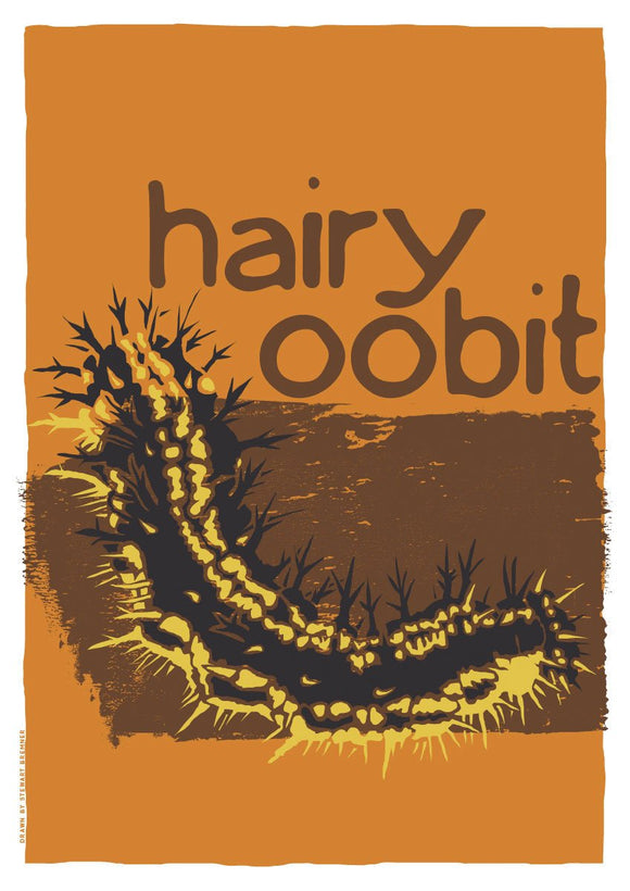 Hairy oobit – giclée print – Indy Prints by Stewart Bremner
