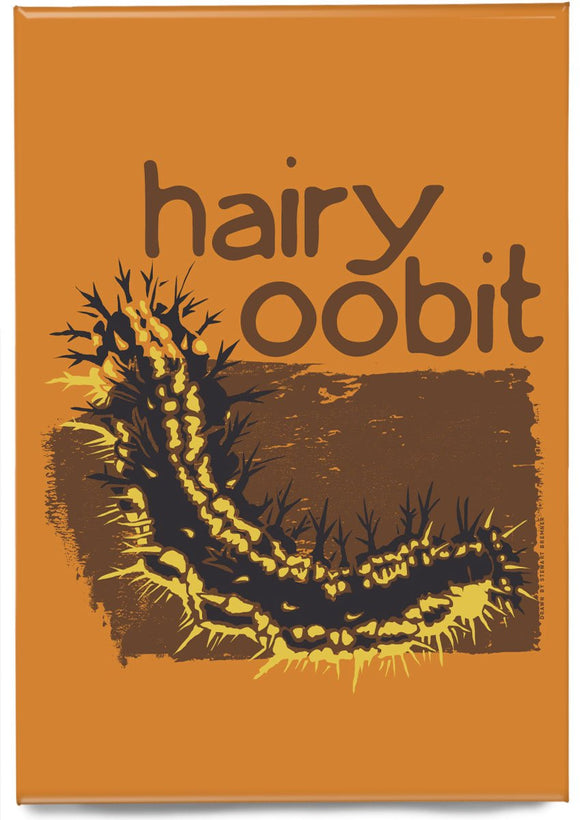 Hairy oobit – magnet – Indy Prints by Stewart Bremner
