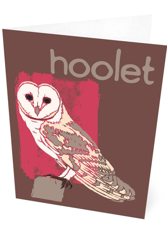Hoolet – card – Indy Prints by Stewart Bremner