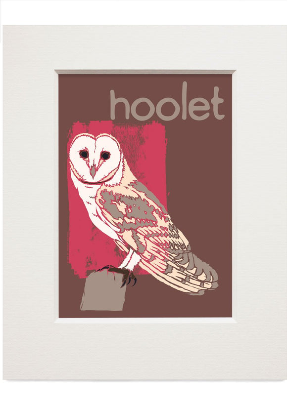 Hoolet – small mounted print - Indy Prints by Stewart Bremner