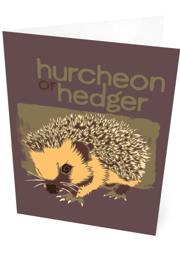Hurcheon or hedger – card – Indy Prints by Stewart Bremner