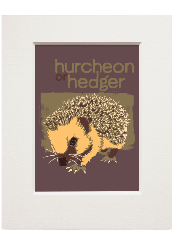 Hurcheon or hedger – small mounted print