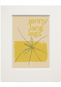 Jenny lang legs – small mounted print - Indy Prints by Stewart Bremner