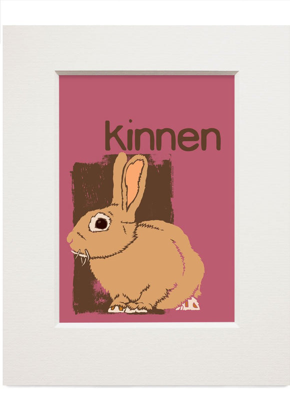 Kinnen – small mounted print - Indy Prints by Stewart Bremner
