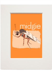 Midgie – small mounted print - Indy Prints by Stewart Bremner