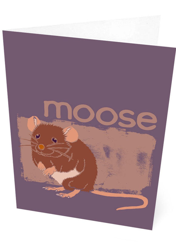 Moose – card – Indy Prints by Stewart Bremner