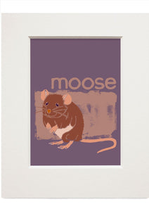 Moose – small mounted print - Indy Prints by Stewart Bremner