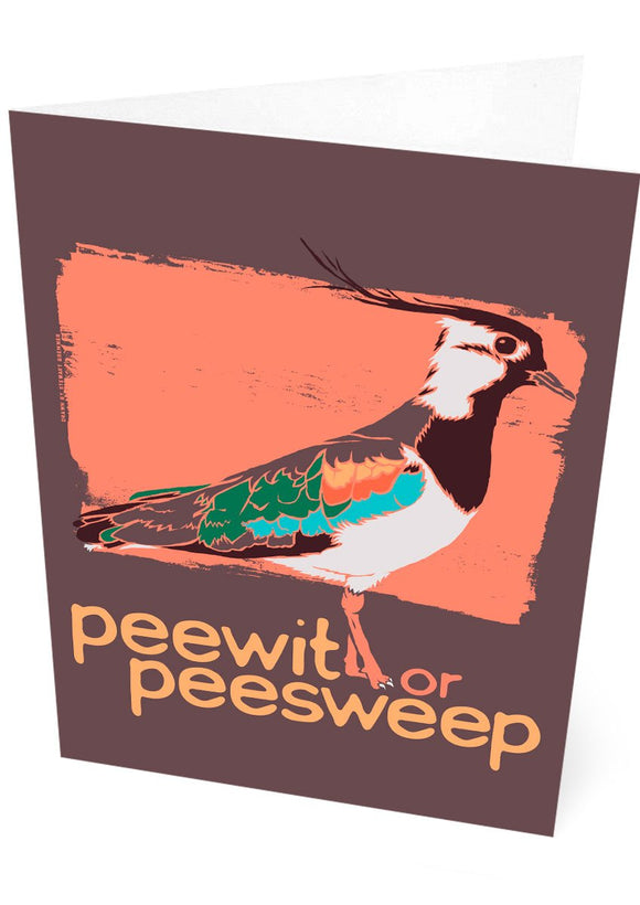 Peewit or peesweep – card – Indy Prints by Stewart Bremner