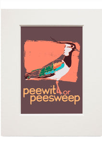 Peewit or peesweep – small mounted print - Indy Prints by Stewart Bremner