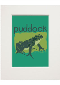 Puddock – small mounted print - Indy Prints by Stewart Bremner