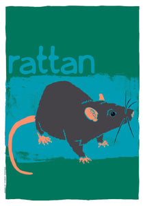 Rattan – poster – Indy Prints by Stewart Bremner