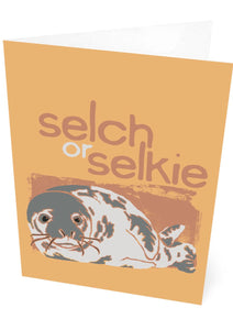 Selch or selkie – card – Indy Prints by Stewart Bremner