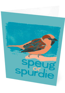 Speug or spurdie – card – Indy Prints by Stewart Bremner