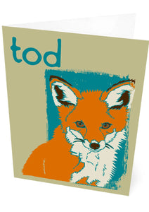 Tod – card – Indy Prints by Stewart Bremner