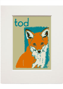 Tod – small mounted print - Indy Prints by Stewart Bremner