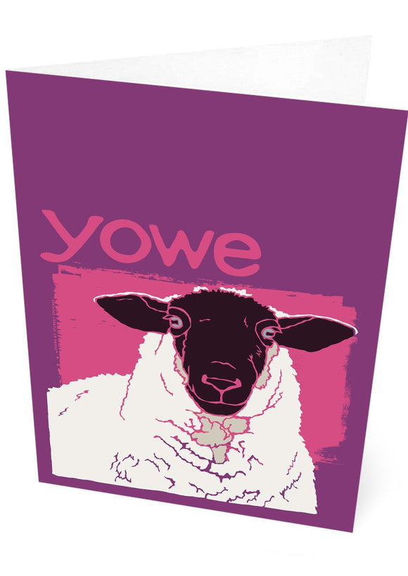 Yowe – card – Indy Prints by Stewart Bremner