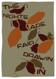 The nights are fair drawin in – poster - brown - Indy Prints by Stewart Bremner