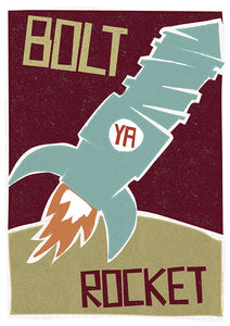 Bolt ya rocket - Indy Prints by Stewart Bremner