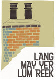 Lang may yer lum reek – roof – giclée print - green - Indy Prints by Stewart Bremner