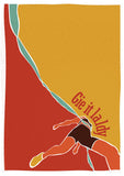 Gie it laldy – runner – poster - red - Indy Prints by Stewart Bremner