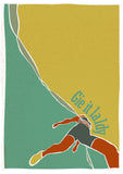 Gie it laldy – runner – poster - turquoise - Indy Prints by Stewart Bremner