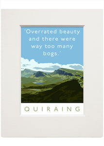 The Quiraing is overrated – small mounted print
