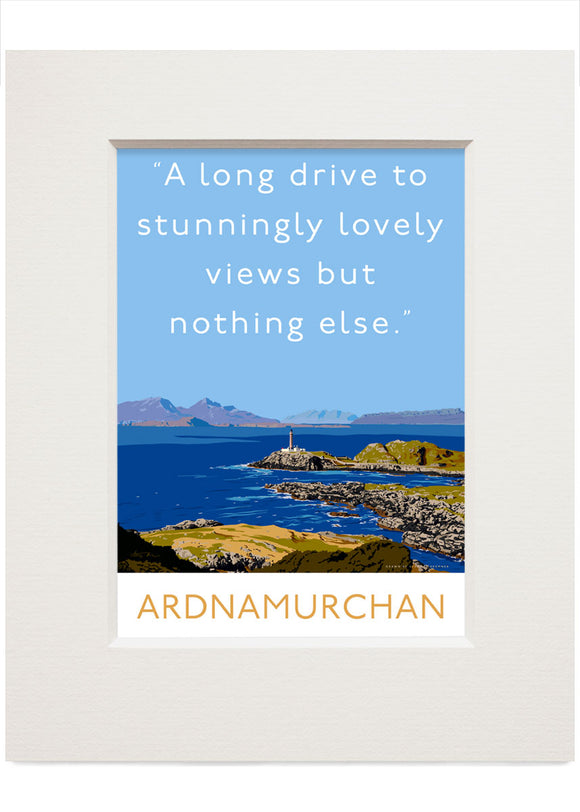 A long drive to Ardnamurchan – small mounted print