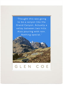 Glen Coe is actually a valley – small mounted print