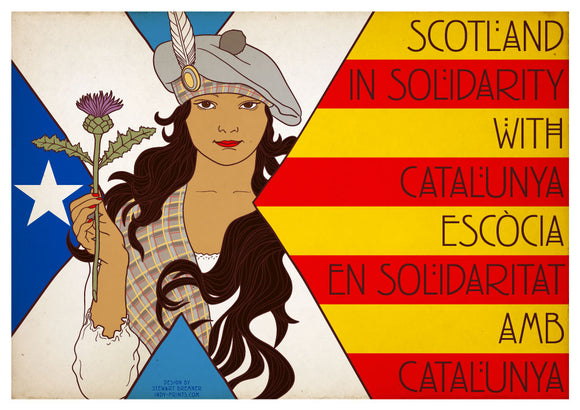 Show Scotland's solidarity with Catalunya – postcards