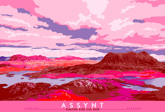 Assynt: Suilven & Cul Mor  – signed & limited edition print