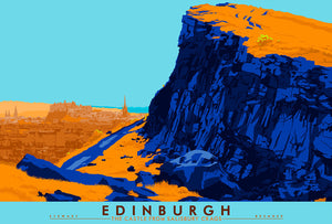 Edinburgh: the Castle from Salisbury Crags – signed & limited edition print