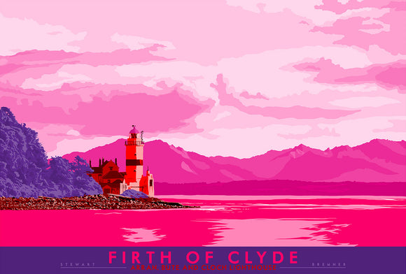 Firth of Clyde: Arran, Bute and Cloch Lighthouse – signed & limited edition print