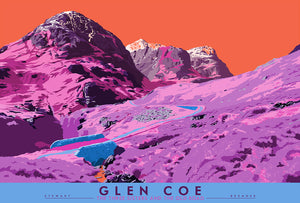 Glen Coe: the Three Sisters and the Old Road – signed & limited edition print