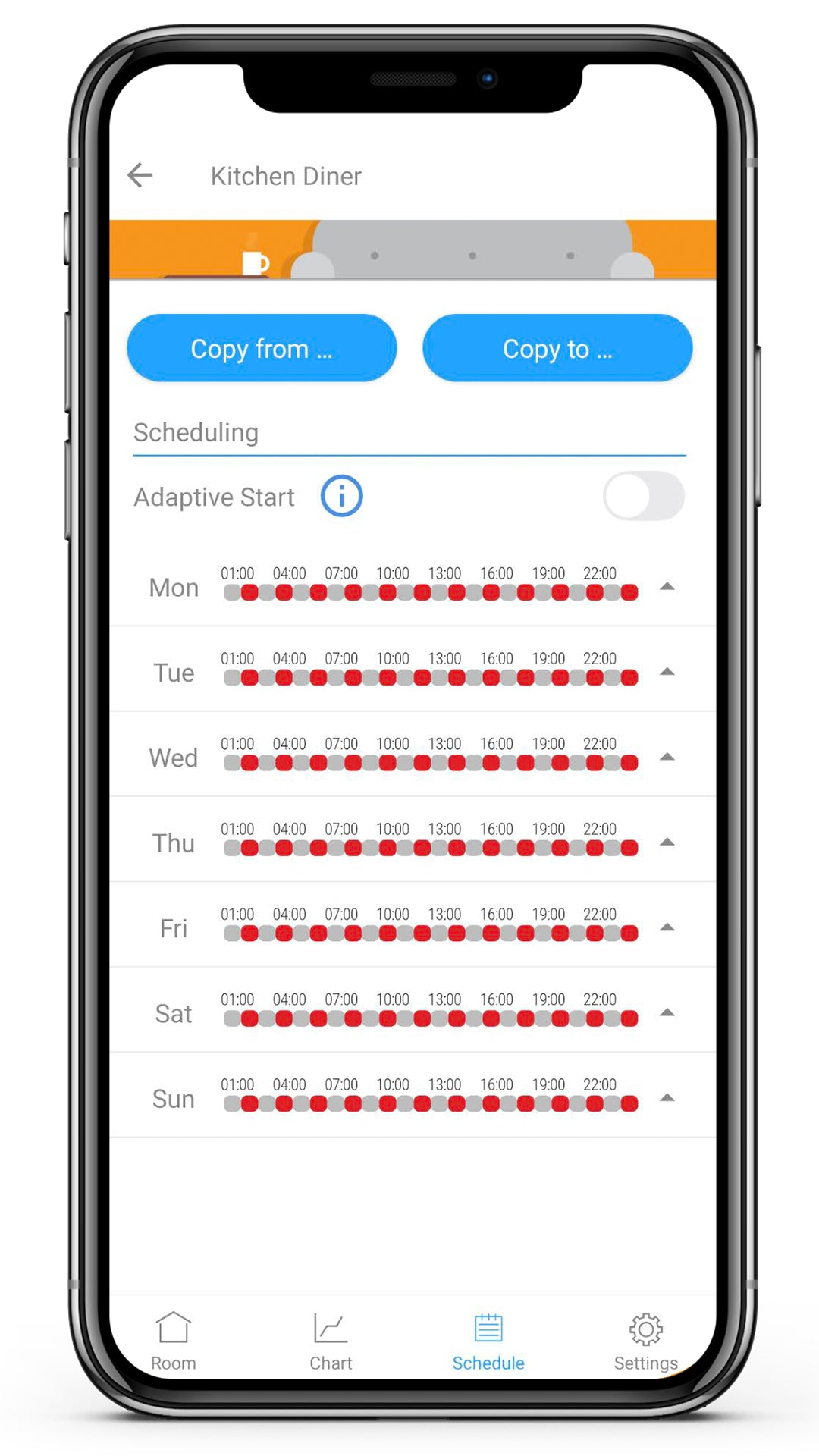 7 day schedules for every room!