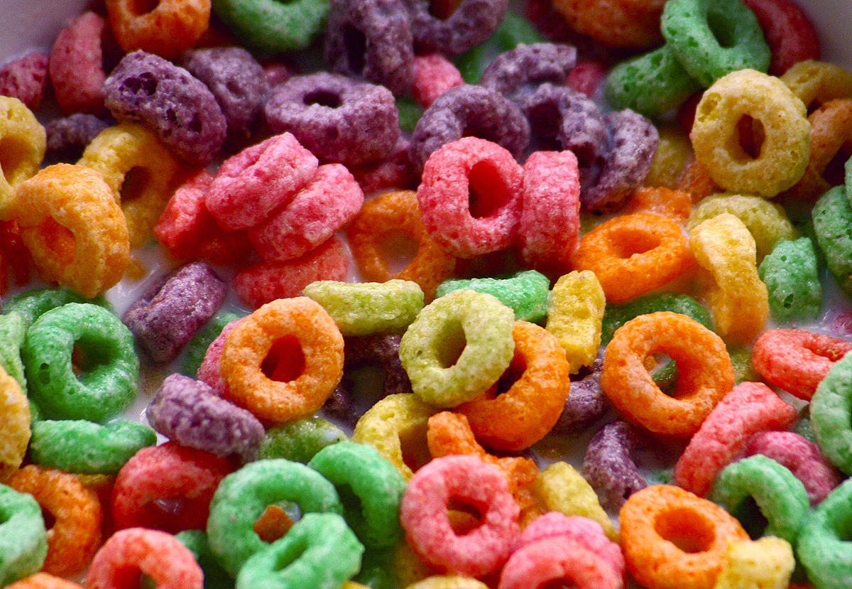 No matter what color your Fruit Loops are, they all taste the same!