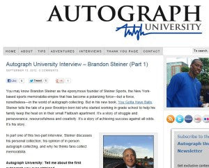 Autograph University Interview – Brandon Steiner