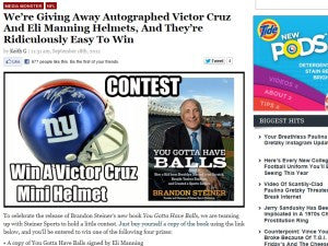 We're Giving Away Autographed Victor Cruz And Eli Manning Helmets, And They're Ridiculously Easy To Win